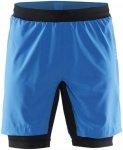 Craft Grit Shorts - Laufhosen für Herren - Blau, Gr. S