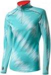 Löffler Thermo-Innervelour Zip-Sweater - Laufshirts für Damen - Blau, Gr. 44