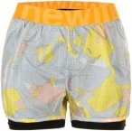 Newline Imotion Printed 2-Lay Shorts Laufhosen - Grau, Gr. M