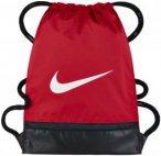 Nike Brasilia Training Gymsack Sporttaschen - Rot, Gr. One Size