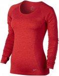 Nike Dri-Fit Knit Long Sleeve - Laufshirts für Damen - Rot, Gr. L
