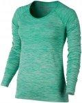 Nike Dri-Fit Knit Tee - Laufshirts für Damen - Grün, Gr. L