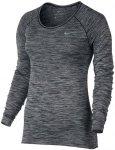 Nike Dri-Fit Knit Tee - Laufshirts für Damen - Grau, Gr. M