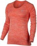 Nike Dri-Fit Knit Tee - Laufshirts für Damen - Rot, Gr. L