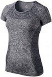 Nike Dri-Fit Knit Top - Laufshirts für Damen - Grau, Gr. L