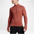 Nike Element Sphere Half-Zip Long Sleeve - Laufshirts für Herren - Rot, Gr. XL