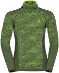 Odlo Shirt L/S Facemask Blackcomb Evolution - Laufshirts für Herren - Grün, Gr