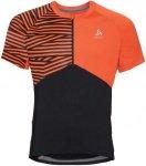 Odlo Shirt Short Sleeve 1/2 Zip Morzine - Laufshirts für Herren - Schwarz, Gr.
