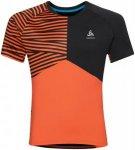 Odlo Shirt Short Sleeve Crew Neck Morzine - Laufshirts für Herren - Schwarz, Gr