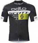 Odlo Stand-Up Collar S/S Full Zip Scott Odlo - Triathlon für Herren - Schwarz,