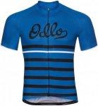 Odlo Stand-Up Collar Short Sleeve Full Zip - Radtrikots für Herren - Blau, Gr.