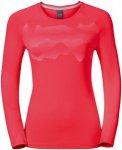 Odlo T-Shirt Long Sleeve Sillian - Laufshirts für Damen - Rot, Gr. 38 - 40