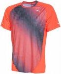 Puma Graphic Short Sleeve Fitnessshirt - Laufshirts für Herren - Rot, Gr. S