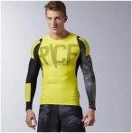 Reebok Crossfit Long Sleeve Comp Shirt - Fitnessshirts für Herren - Gelb, Gr. X