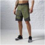 Reebok Les Mills Bodycombat Short - Fitnesshosen für Herren - Grün, Gr. XL