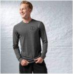 Reebok Les Mills Long Sleeve - Fitnessshirts für Herren - Grau, Gr. XL