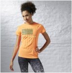 Reebok One Series Short Sleeve Tee - Laufshirts für Damen - Orange, Gr. L