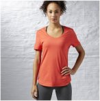 Reebok Workout Speedwick Tee - Fitnessshirts für Damen - Rot, Gr. 38-40