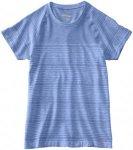 Saucony Dash Seamless Short Sleeve Laufshirts - Blau, Gr. XS