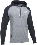 Under Armour Sportstyle Full Zip Tri Hoody - Laufjacken für Herren - Grau, Gr.