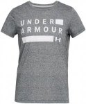 Under Armour Threadborne Train Graphic Twist Tee - Laufshirts für Damen - Grau,