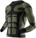 X-Bionic Precuperation Shirt Long Sleeves - Laufshirts für Herren - Grün, Gr.