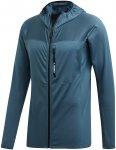 adidas Terrex Herren Trace Rock Hooded Jacke (Größe XL, Blau) | Fleecejacken >