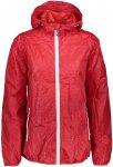 CMP Damen Fix Hoodie Ripstop Jacke (Größe XXS, Rot) | Windbreaker > Damen