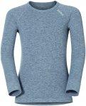 Odlo Kinder Warm Longsleeve (Größe 116, Grau) | Langarm Unterhemden > Kinder