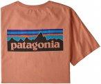 Patagonia Herren P-6 Logo Organic T-Shirt (Größe XL, Orange) | T-Shirts Freize