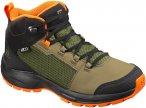 Salomon Kinder Outward CSWP Schuhe (Größe 35, Grün) | Wanderschuhe & Trekking