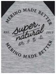Super.Natural Signature Contrast Pullover (Größe M, grau)   Pullover > Herren