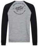 Super.Natural Signature Contrast Pullover (Größe XXL, grau) | Pullover > Herre