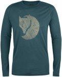Fjäll Räven Abisko Trail T-Shirt Print LS-Glacier Green-S - Gr. S