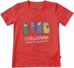 Fjällräven Kids Sleeping Foxes T-shirt - Red - 104 - red