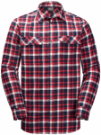 Jack Wolfskin BOW VALLEY SHIRT - red blue checks - M