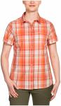 Jack Wolfskin Maroni River Shirt Women - papaya checks, Größe S