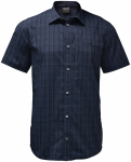 Jack Wolfskin RAYS STRETCH VENT SHIRT MEN - night blue checks - M