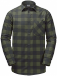 Jack Wolfskin RED RIVER SHIRTRED RIVER SHIRT - woodland green checks - L