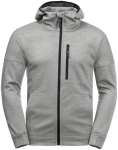 Jack Wolfskin RIVERLAND HOODED JACKET M - light grey - M