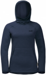 Jack Wolfskin SKYLAND HOODY WOMEN - midnight blue - XL - Midnight Blue