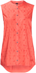 Jack Wolfskin SONORA SHIBORI SLEEVELESS - hot coral all over - M