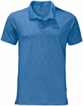 Jack Wolfskin TRAVEL POLO MEN - wave blue - L