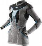 X-Bionic APANI Merino Fastflow Shirt long Sleeves Round neck Women schwarz/turqu