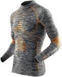 X-BIONIC MAN ACC_EVO MELANGE SHIRT TURTLE Gr. S/M - Grey Melange/Orange