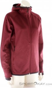 Black Diamond Compound Hoody Damen Fleece Outdoorsweater-Rot-XL