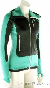 Haglöfs Serac Hood Jacket Damen Tourensweater-Grün-M