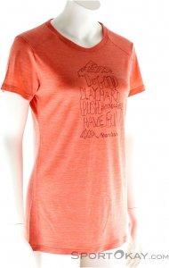 Houdini Activist Message Tee Damen T-Shirt-Pink-Rosa-M