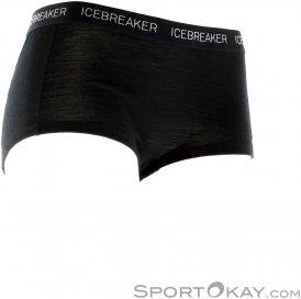 Icebreaker Boy Shorts Damen Funktionshose-Schwarz-S
