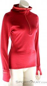 Icebreaker Rush LS HZ Damen Outdoorsweater-Pink-Rosa-XS